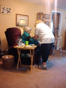 With home health nurse 7-11-10